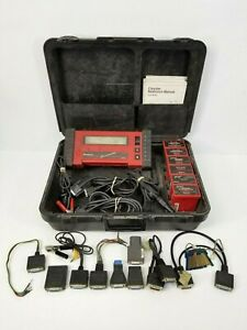 Snap On Mt2500 Diagnostic Scanner With Cartridges Cables Keys Free Shipping