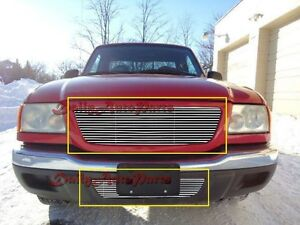 Billet Grills Insert Fit 01 03 Ford Ranger Xl Xlt 2wd Front Grille Combo