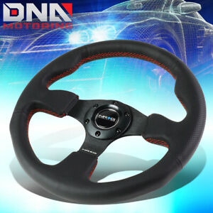 Nrg Reinforced Rst 012r rs 320mm Type r Black Leather Red Stitch Steering Wheel