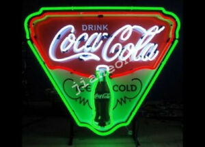 New Coca Coka Cola Bottle Ice Cold Soda Drink Shop REAL NEON SIGN Beer Bar Light