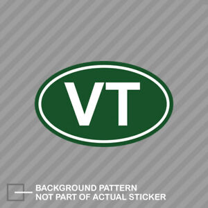 Green Oval Vt Vermont Sticker Decal Vinyl Vermont Oval Vt Euro Oval