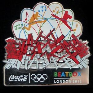 BEATBOX  COCA COLA OLYMPIC PARK LONDON 2012 PIN BADGE RARE ISSUE
