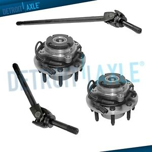 Front U Joint Axles Wheel Hub 4x4 99 04 Ford F250 F350 Dana 60 Only