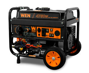 Wen 4750 w Hybrid Dual Fuel Gas Portable Electric Start Generator With Wheel Kit