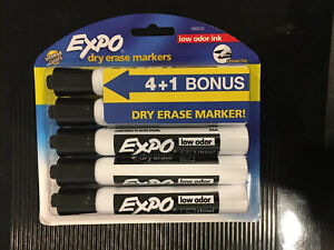 10x Lot Expo Low Odor Chisel Point Dry Erase Markers 5 Per Pack total 50 Markers