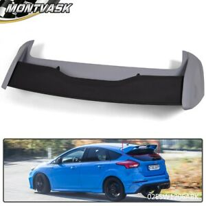 Rear Roof Wing Spoiler For 2012 2018 Ford Focus Hatchback Black Rs Style