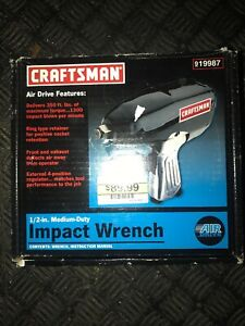 Vintage Craftsman 1 2 Drive Air Impact Wrench Model 875 199870