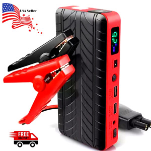 Portable Emergency Jump Starter Battery Charger With Jump Lead For 12v Us Seller