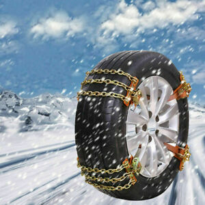 New 8 Pieces Universal Wheel Tire Snow Anti Skid Chains For Car Truck Suv