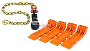 1 2 Ton 3 Snatch Block With Shackle Chain Anchor 4 Interlocking Tire Skates