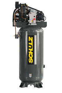 New Schulz 5 Hp Piston Air Compressor 932 9334 0 580vl20x 1 Single Phase