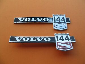 70 s 80 s Volvo 144 S Side Fender Emblem Logo Badge Sign Symbol Name Set A441