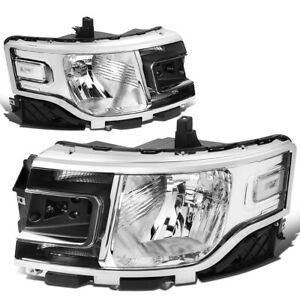 For 2013 2019 Ford Flex Left Right Side Oe Style Headlight Head Lamps Chrome
