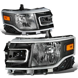 For 2013 2019 Ford Flex Left Right Side Oe Style Headlight Head Lamps Black