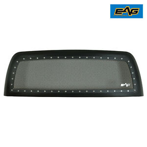 Eag Grille Front Steel Mesh Rivet Studded Fit 10 12 Dodge Ram 2500 3500 Hd