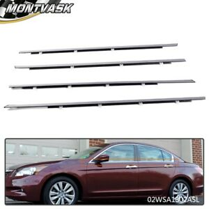 For Honda Accord 2008 2012 Weather Strip Outside Window Moulding Trim Seal Belt