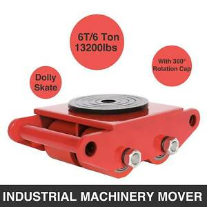 Industrial Machinery Mover W 360 rotation Cap 6t Dolly Skate Roller Swivel Plate