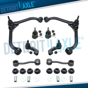 Front Upper Control Arms Lower Ball Joints Tierod Kit For 2005 2007 Jeep Liberty
