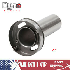 Universal 4 Adjustable Round Tip Silencer Exhaust Muffler Removable Silencer