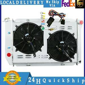3 Row Radiator Shroud Fan Thermostat For 69 73 Ford Mustang Mercury Cougar V8