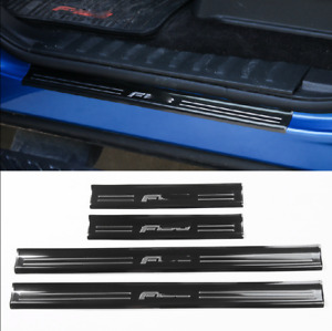 Stainless Steel Car Door Sill Protector Scuff Plate Guard For 15 2020 Ford F150
