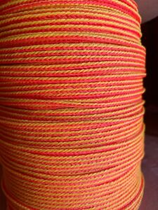 5 32 X 900 Ft Polyethylene Throw Line Rope Yellow red made In Usa