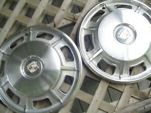 Two 1967 67 1968 Cadillac Cady Eldorado Fleetwood Hubcaps Wheel Covers Vintage