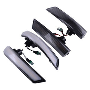 Fit For Ford Focus Mk3 Mk3 5 11 18 Led Smoke Turn Signal Mirror Sequential Light