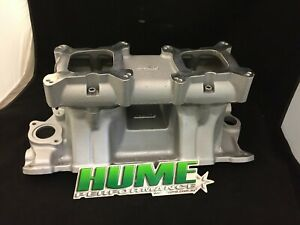 Small Block Chev 283 350 400 Tunnel Ram Intake Manifold Twin Carb 12 125