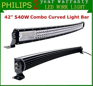 7d Tri row 42 Inch Curved Led Light Bar 540w Combo Ford Off Road Driving 40 44