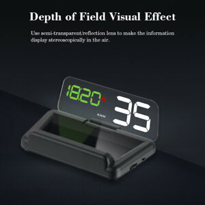 Car Hud T900 With Reflection Board Head Up Display Speedometer Gps Universal Us