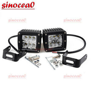 2x 24w 3inch Cube Led Spot Fog Lights For Toyota Tundra Tacoma Pickup Offroad