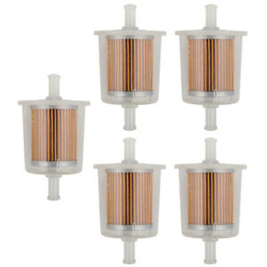 5 New Motor Inline Gas Fuel Filter Small Engine For 5 16 Universal Line