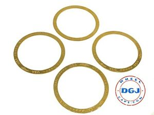 Set Of 4 Zenith Style Locking Gold Rings For Lowrider Wire Wheels Knock offs