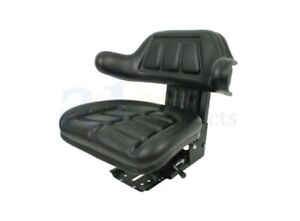 Ford Tractor Seat W Wrap Around Back With Arms Black Vinyl