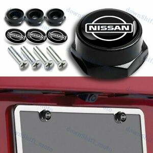For 4pcs Nissan Racing Car License Plate Frame Screw Bolt Cap Cover Bolts Nuts