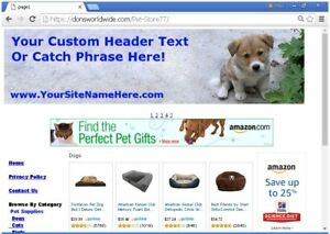 Online Pet Supply Website For Sale Free Domain Setup Customization And More