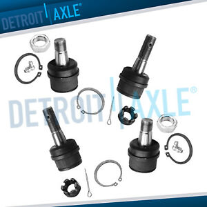 4wd Front Lower Amp Upper Ball Joint For Dodge Ram 2500 Ford F 150 F 250 Bronco