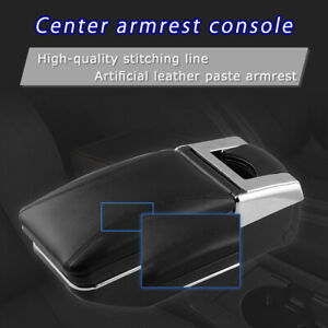 Pu Leather Car Central Console Armrest Box Center Storage Case Universal
