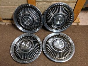Used 1964 Catalina Vintage Pontiac Motor Division Hubcaps Set Of 4