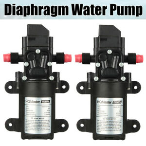 2x Dc 12v 130psi 6l min Water High Pressure Diaphragm Self Priming Pump 70w