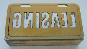 Printing Letterpress Printers Block Leasing License Plate