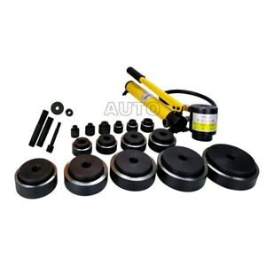 Manual Pump Steel Plate Hole Punch Set Syk 8 Syk 15 Hydraulic Punch Driver Tools