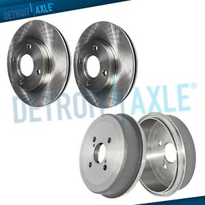 Front Disc Brake Rotors Rear Drums For 1993 2002 Toyota Corolla Chevy Prizm