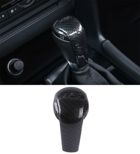 Carbon Fiber Style Abs Gear Box Head Cover Trim For Mazda 3 Axela 2017 2018