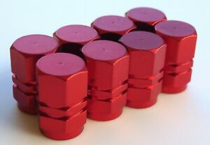 Tire Valve Stem Caps For Car Truck Bike Motorcycle 2 Sets Red