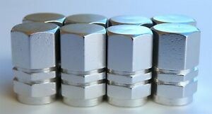 Tire Valve Stem Caps For Car Truck Bike Motorcycle 2 Sets Silver