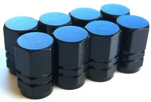 Tire Valve Stem Caps For Car Truck Bike Motorcycle 2 Sets Black