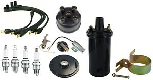 Complete Ih Distributor Tune Up Kit 12v Coil Ih Farmall 4 Cyl Gas Tractor