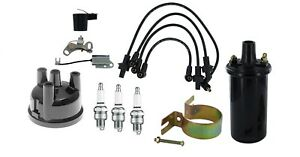 Distributor Cap Ignition Tune Up Kit W 12 Volt Coil Ford 3 Cyl Gas Tractor